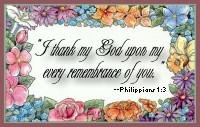 I thank my God......